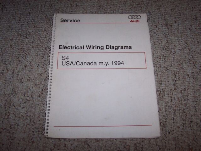 1994 Audi S4 Quattro Original Electrical Wiring Diagrams Book Manual