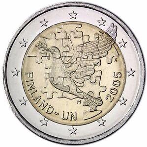 Finnland-2-Euro-60-Jahre-Vereinte-Nationen-UN-2005-Gedenkmuenze-bankfrisch
