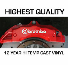 BREMBO BRAKE CALIPER STICKERS DECALS HI - TEMP CAST 12 YEAR VINYL