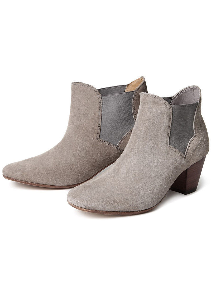 H by Hudson Women's Taupe, Claudette Suede Ankle Boots - Taupe, Women's UK Size 8 RRP 1b2ebb