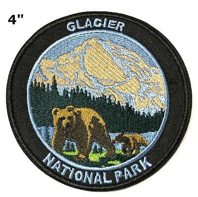 Sew-On Souvenir Gear Applique Glacier National Park Embroidered Patch Iron