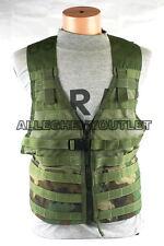 USGI Military MOLLE II Fighting Load Carrier Vest FLC Zipper Woodland Camo MINT