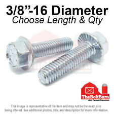 38 16 Grade 8 Serrated Hex Flange Screws Frame Bolts Zinc Pick Length Amp Qty