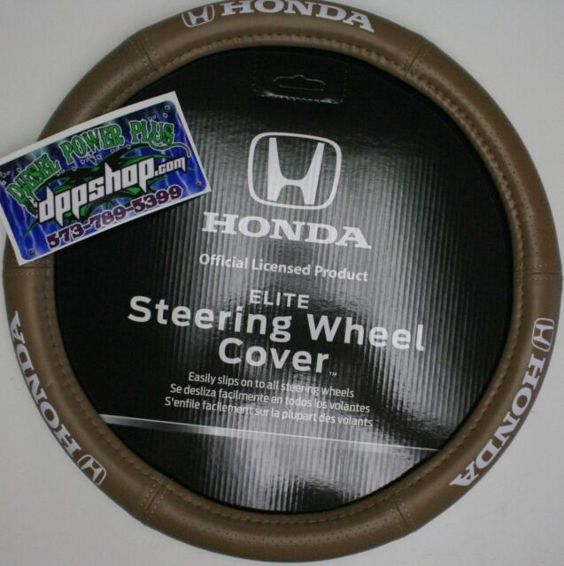 TAN honda steering wheel cover sport leather grip protector universal padded new