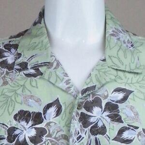 eb3e9f150df0 Image is loading Mens-Hawaiian-Shirt-2XL-Hibiscus-Tropical-Ti-Leaves-