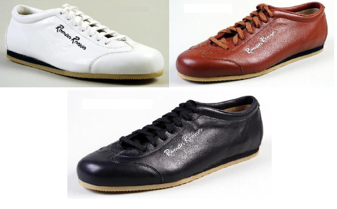 Roman Roosen Sneaker cognac / schwarz / weiß Echtleder Gr. 37 - 43 1/2 NEU OVP