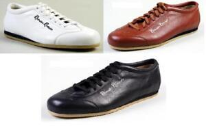 Roman-Roosen-Sneaker-cognac-schwarz-weiss-Echtleder-Gr-37-43-1-2-NEU-OVP