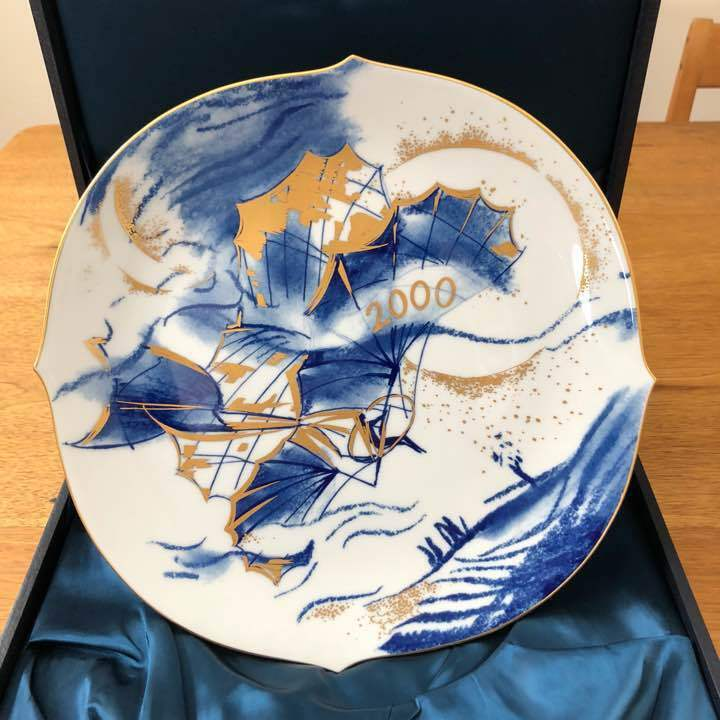 JAPAN Limited item 2000 Meissen earplate hang glider from JAPAN Free shipping