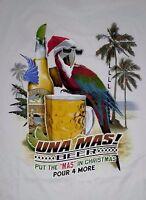 Paradise Shores Una Mas Beer Holiday Christmas White T-shirt Onre More