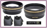 Pro Hd (2-pc Lens) Wide Angle & Telephoto Lens Set For Sony Nex6 Nex6l
