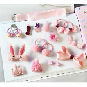 18Pcs-Set-Baby-Girls-Hair-Band-Kids-Hairpin-Headwear-Bow-Clip-Elastic-Ring-Gifts