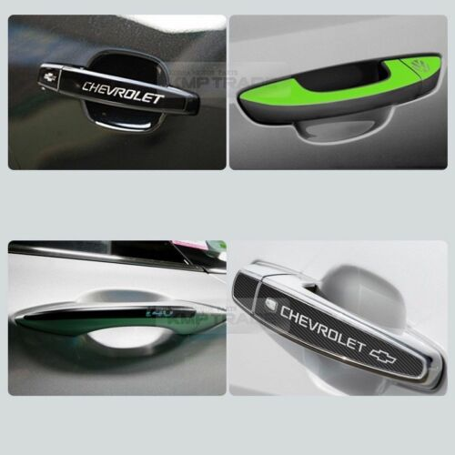 Carbon Black Door Catch Logo Handle Decal Sticker For CHEVROLET 2011-16 Captiva