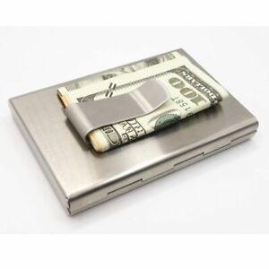 RFID-Blocking-Stainless-Steel-Credit-Card-ID-Holder-Metal-Wallet-Case-Money-Clip