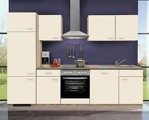 Küchenzeile MANKASIGMA 2 Küche 280cm Küchenblock Vanille/SonomaEiche ...