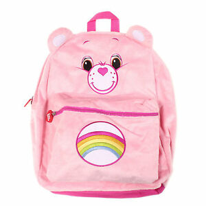 """Care Bears Plush Grumpy Bear Pink 16"""" inches Large Backpack - Licensed Product"""