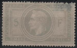 FRANCE-STAMP-TIMBRE-N-33-034-NAPOLEON-III-5F-VIOLET-GRIS-1867-034-NEUF-x-RARE-K707