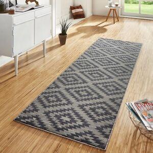 design velours teppichl ufer br cke teppich diele flur kurzflor nordic grau ebay. Black Bedroom Furniture Sets. Home Design Ideas