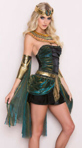 Womens Egyptian Goddess Queen Fancy Dress Costume Cleopatra Costume Deluxe