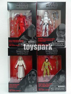 "Star Wars Black Series 3.75/"" The Last Jedi 4 LUKE EXECUTIONER ROSE GUARD walmart"