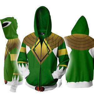 sale retailer ed7e3 37ee1 Details about New 3D Printing Hoodie Mighty Morphin Power Rangers Sweater  Sweatshirt jacket