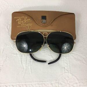 d3af660d3e Vintage B L Ray Ban Shooting Decot Sunglasses Gold 1 10 12K GF Green ...