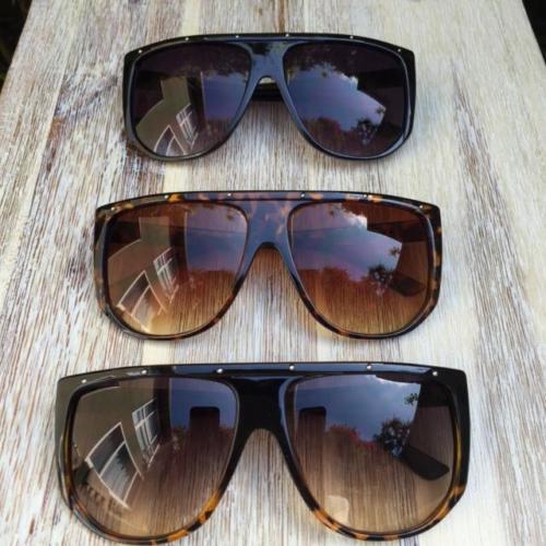 Oversized Retro Square XXL Flat Top Aviator Large XL Shield Mask Sunglasses 7861