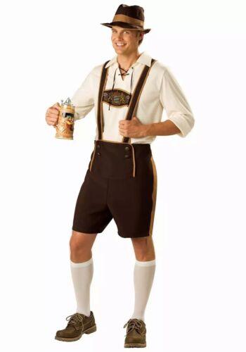 UK Mens German Man Bavarian Fancy Dress Costume laderhosen Beer Festival  M--XXL