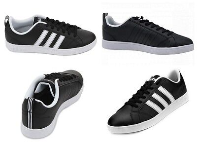 gusto sufrir cine  Adidas Neo Mens VS ADVANTAGE Trainers Casual Black Shoes | eBay