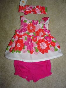 NWT GYMBOREE SIZE 6 12 MONTHS TINY TROPICS FLORAL SET TWO PIECE HEADBAND NEW