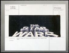 STAR WARS POSTER PAGE ORIGINAL TITLES STORYBOARD ILLUSTRATION . T1. NOT DVD