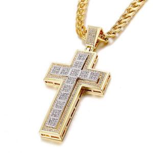 Crucifijo Cadenas de Oro 14K Joyas Joyeria Fina de Moda Regalos para Hombre