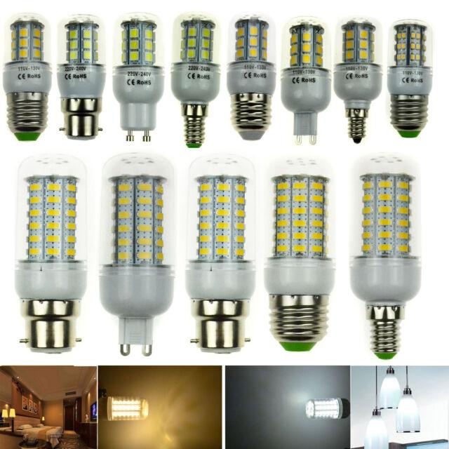 Dimmable E26/E27/E12/E14/B22/G9/GU10 LED Corn Light bulb lamp HIGH POWER bulbs
