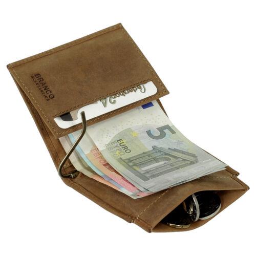 Branco Cuir Dollarclip messieurs portefeuille porte monnaie billets Marron rust 49795