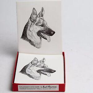 1962 earl sherwan german shepard 7 blank greeting cards w envelopes image is loading 1962 earl sherwan german shepard 7 blank greeting m4hsunfo