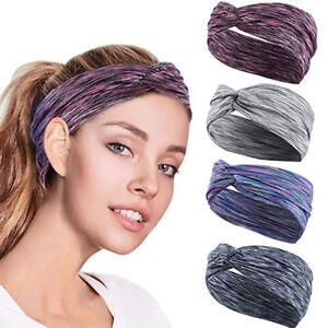 54a3a7d48e3a Image is loading Women-Workout-Headband-Soft-Stretchy-Turban-Head-Wrap-