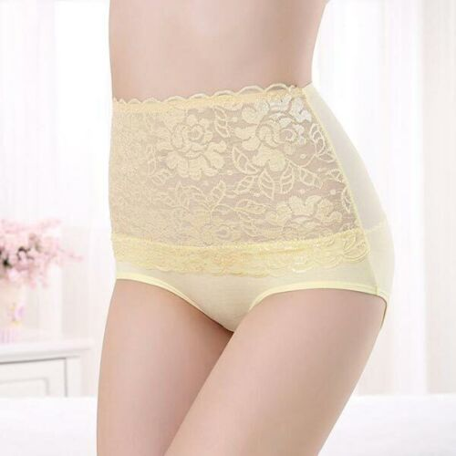 Underpants Solid Panties Soft Briefs Lady High Waisted Hipster Underwear Fashion