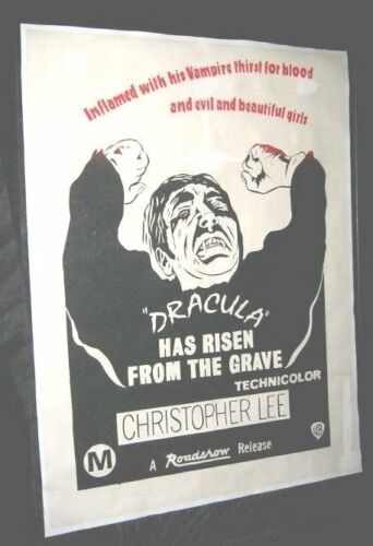 Original-ON-LINEN-New-Zealand-DRACULA-HAS-RISEN-FROM-THE-GRAVE-Christopher-Lee