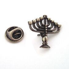 Hanukkah Menorah LAPEL PIN BADGE Jewish Jew Candelabrum Birthday Present