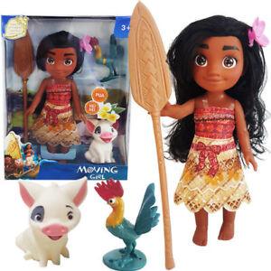 Disney-Princess-Moana-Adventure-Young-Moana-Pua-Hei-Hei-Action-Figures-Girl-Toy