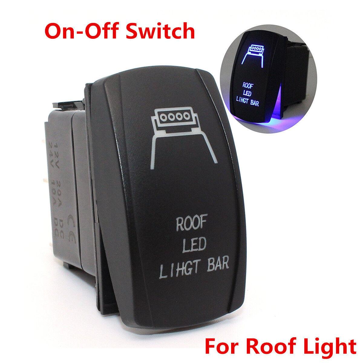 Rocker Switch 612W 12 voltios luces de techo Carling láser grabado tjm Offroad 4x4 4wd