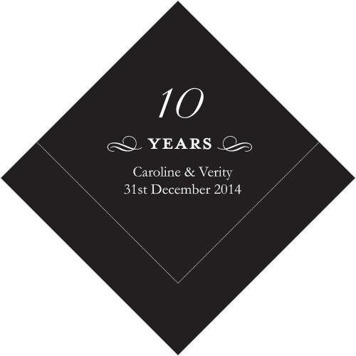 300 Printed 10th Anniversary Birthday Luncheon Napkins
