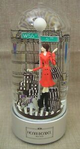 """Henri Bendel """"Fly Me to the Moon"""" NYC Shopping Girl 9"""" Musical Snow Globe Mint!"""