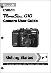 canon powershot g10 digital camera user guide instruction manual ebay rh ebay com canon g10 service manual canon g10 instruction manual download