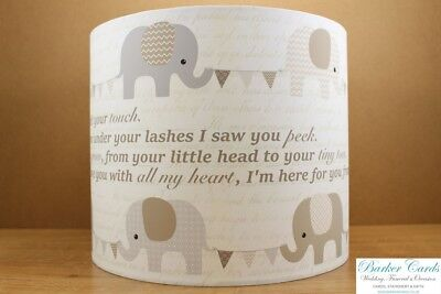 Nursery Elephant Lampshade