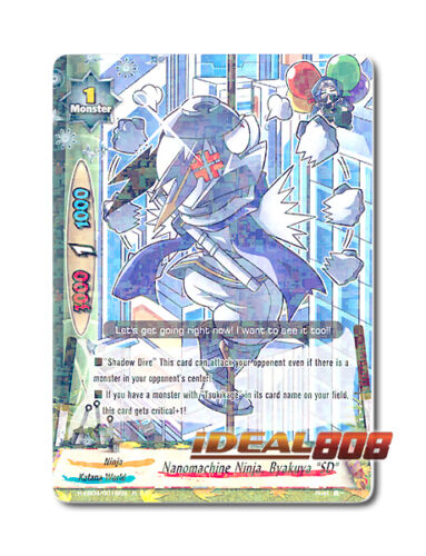 Buddyfight x 4 Nanomachine Ninja, Byakuya SD [H-EB04/0019EN R] English Mint Fu