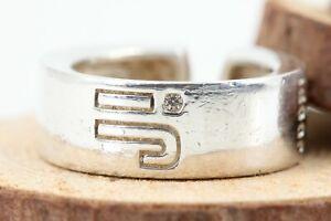 JOOP-Silber-Ring-Zirkon-925-Sterling-Silber-Groesse-53-verstellbar-Gewicht-8-29g