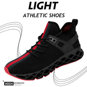 Mens-Sneakers-Blade-Black-Sports-Shoes-Flyknit-Trainer-Running-Shoes-Fashion