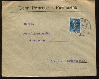 Ernst Bayern Firmen Brief 1920; Pirmasens; Gebr. Preisser #28221 Ausreichende Versorgung