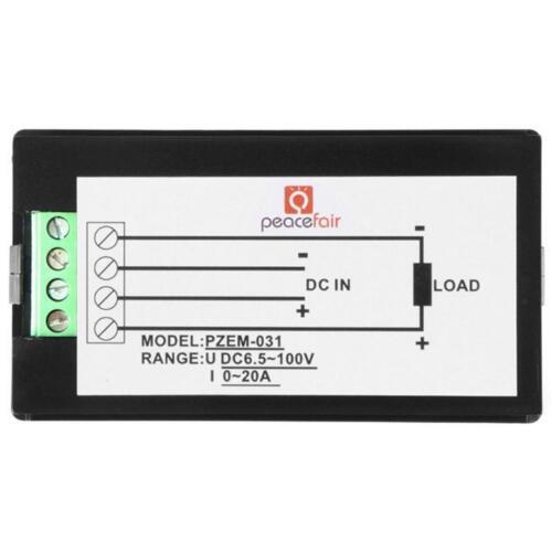 DC 6,5 100 V 20A TSPZEM 031 LCD Digital Volt Ampere Power Energie Multimeter