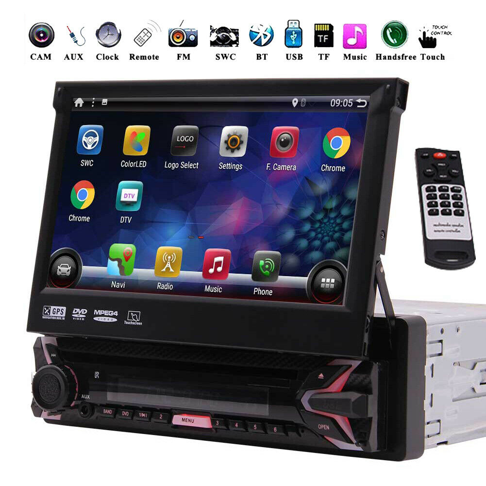 autoradio: Autoradio Android 10.0 1 DIN Stereo Audio TouchScreen GPS NAV Bluetooth DVD DAB